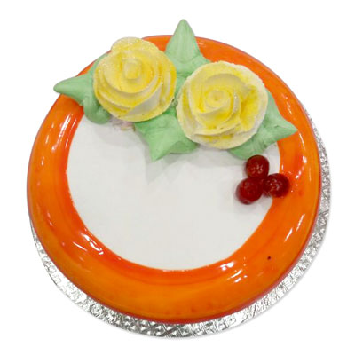 Click here for more on Round shape Pineapple Flavor - 1kg cake