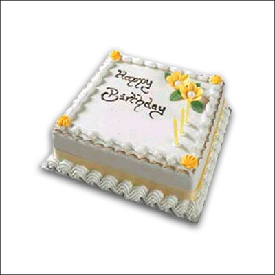 Click here for more on Delicious square shape Vanilla cake - 1 kg