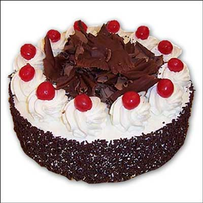 Click here for more on Delicious round shape Chocolate cake - Half kg