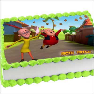 Cake Design Of Motu Patlu : Motu Patlu - 2kgs (Photo cake) (Code MP01) to Hyderabad ...