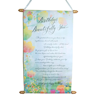 Birthday Message Scroll -904-005
