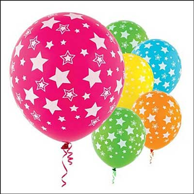 Click here for more on Unblown Star Printed Latex Balloon (pack of 10pcs)