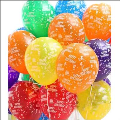 Click here for more on Unblown Happy Birthday Printed Latex Balloons (Pack of 10 Balloons)