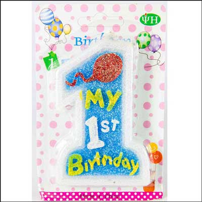 Click here for more on My First Birthday Number Candle Blue(1st Birthday)
