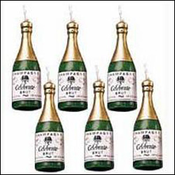 Click here for more on Champagne Shape Candles - 6 pieces