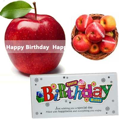 Talking Apples with Birthday Message, Desktop Message Stand