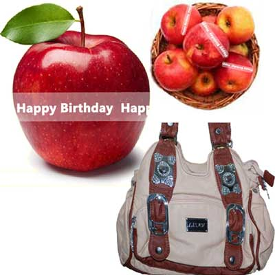 Click here for more on Talking Apples with Birthday Message, Ladies Hand Bag