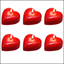 Click here for more on Heart shape Candles - 6 pieces