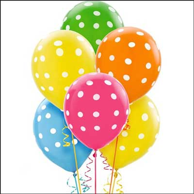 Click here for more on Unblown Polka Dot Printed Latex Balloon (pack of 10 balloons)