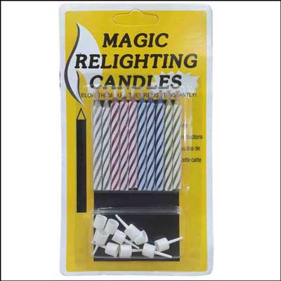 Click here for more on Magic Relighting Candles