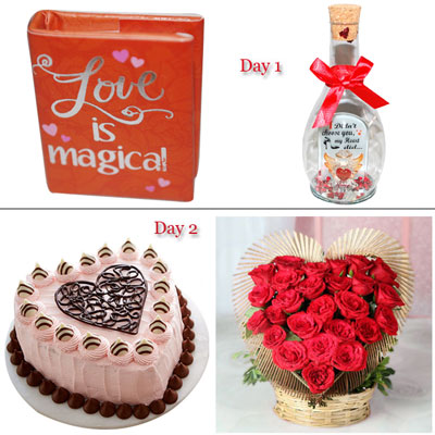 Romantic Hug ( Multi day Hamper)