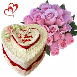 Send V Day Cakes And Flowers To Hyderabad Bangalore India