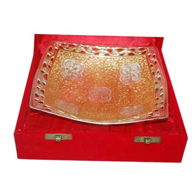 Click here for more on Brass and Silver coated Bowl - 130-001