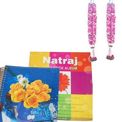 Click here for more on Big size Rose Garlands+ Natraj Photo Album -20 sheets