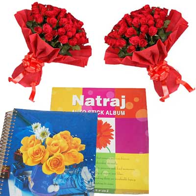 Click here for more on Natraj Album-20 sheetss-2+20 Roses Bunches-2 qty Size: 30cm*32 cm