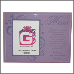 Click here for more on Message with Photo Frame stand 4 Mom