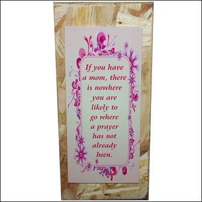 Click here for more on Quotation for Mother Message stand - code179-001