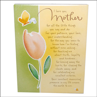 Click here for more on Mother Message Stand -107
