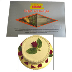 Send gifts for mother to hyderabad bangalore india sugar free cake vanilla flavour 1kg sugarless sweets negle Image collections