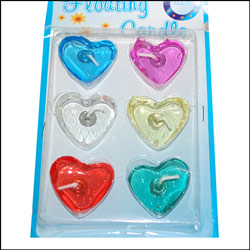 Click here for more on Heart shape Floating Candles - 6 pieces-018