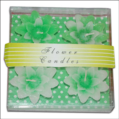 Click here for more on Floral Design Floating Candles - 4 pieces (Green Color)-009