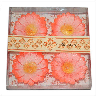 Click here for more on Floral Design Floating Candles - 4 pieces (Orange Color)-001
