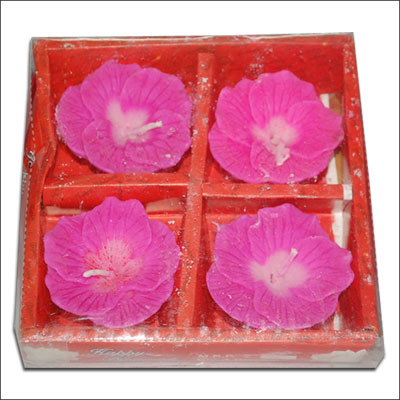 Click here for more on Floral Design Floating Candles - 4 pieces (Pink Color)-002