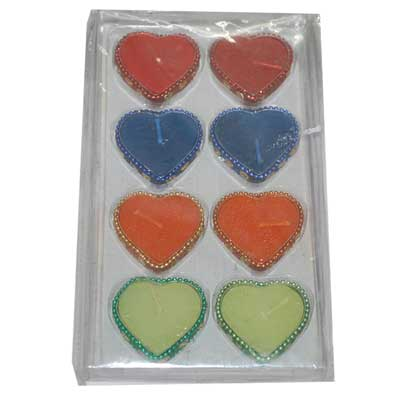 Click here for more on Heart shape candle set-003
