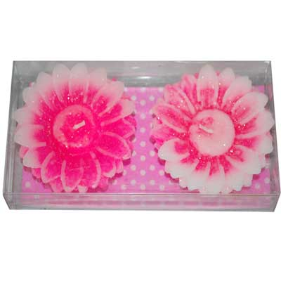 Click here for more on Flower Design Floating Candles - 2 pcs-Pink shade-012