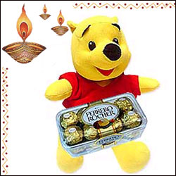 Pooh Bear n Ferraro Rocher Chocolates