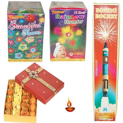 Click here for more on Crackers N Sweets Hamper - code C04