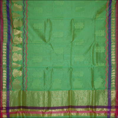 Click here for more on Parrot Green color Mytri Silk Saree - SRS-5