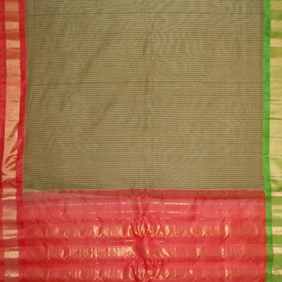 View More(Gadwal cotton Saree with Big Border - MHG-24 (Without Blouse)