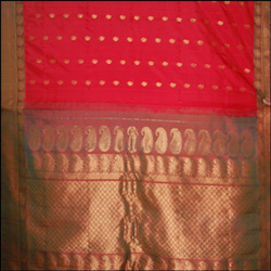 Click here for more on Gadwal Pattu Saree Chilly Red Color GMHP-4 ( With Blouse)