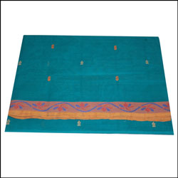 Click here for more on Village Cotton Saree - Luxgreen color SLU- 44 (Without Blouse)
