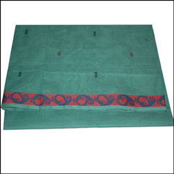 Click here for more on Village Cotton Saree - Lightgreen color SLU- 48 (Without Blouse)