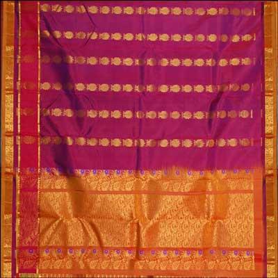 View More(Kalaneta double color Kanchi Pattu Saree RNS-17