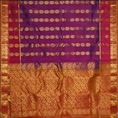 View More(Kalaneta double color Kanchi Pattu Saree RNS-23