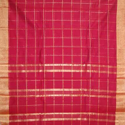 View More(MAROON colour (Cotton Silk) Seiko Saree SCV-47(with blouse)