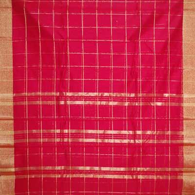 View More(Red colour (Cotton Silk) Seiko Saree SCV-48(with blouse)