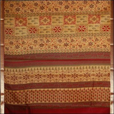 View More(Jalaja Zari Border pure silk Saree - CDC-19