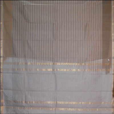 Click here for more on Light grey combination Cotton Saree - PSC-38(With Blouse)
