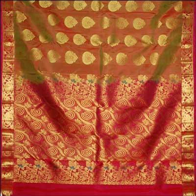 View More(Kalaneta Green color kanjeevaram silk saree RNS-56