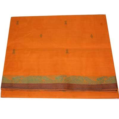 View More(Village Cotton Saree - Mustard colour SCV-65 (without Blouse)
