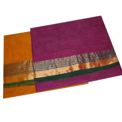 View More(Chettinadu Cotton Sarees SCV-74 N SCV75 (Without Blouse)