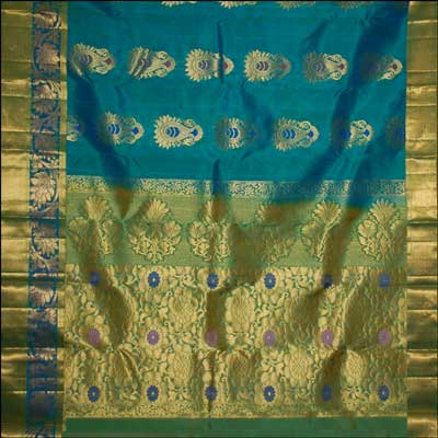 View More(Kalaneta Luxgreen color kanjeevaram silk saree RNS- 71