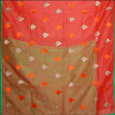 Click here for more on Orange color designer kota cotton saree VIG-16