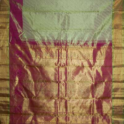 Click here for more on Mixedgreen Cololur kanjeevaram silk saree RNH-56 (with blouse)