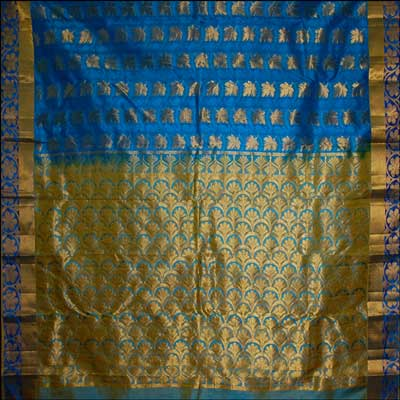 View More(Ananda Blue Kanchi Pattu Saree DNS-46