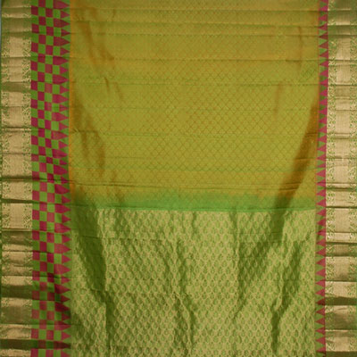 Click here for more on Mixedgreen color kanjeevaram silk saree NSH-49 (with Blouse)
